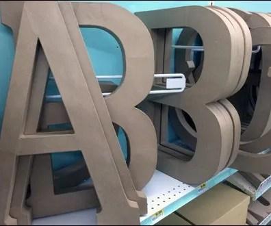 Angled Alphabetic Shelf Dividers 2