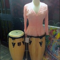 Bongo Drum Dress Form Front
