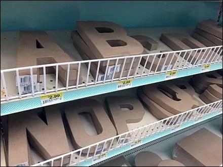 Declined Alphabetic Shelf Fencing Main