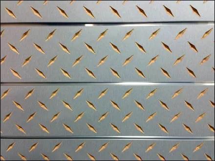 Diamond Plate Slatwall Detailing by Windmill Slatwall Main