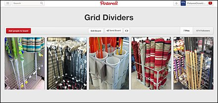Grid Divider Pinterest Board