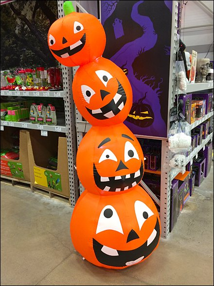 Impossible Stack of Pumpkins