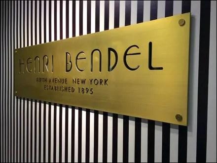 Henri Bendel Branded Backwall