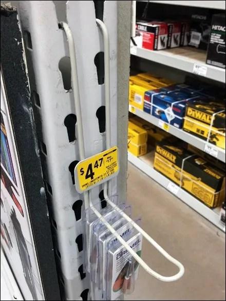 Dremel Loop Hook Strip Merchandiser