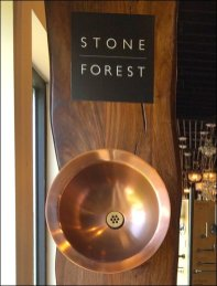 Stone Forest Sink Wall Bowl Display