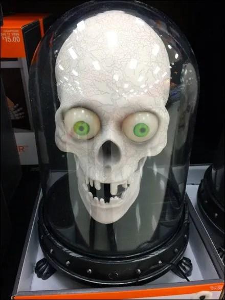 Skulls in Bell Jars for Halloween
