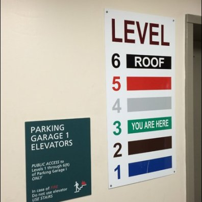 Color Coded Parking Wayfaring Aux