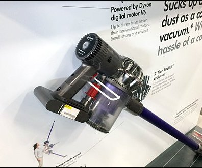 Dyson Digital Slim Vacuum On A Safety Loop Hook