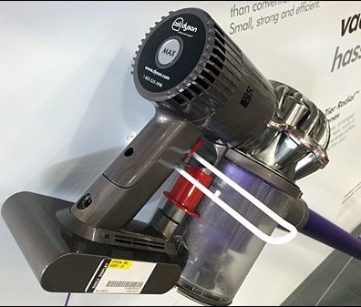 Dyson Digital Slim Vacuum On A Safety Loop Hook