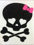Goth Girl Halloween Tee Logo Closeup