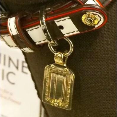 Henri Bendel Dog Collar Rivet Logo Detail