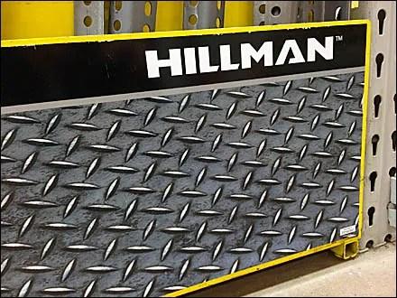 Diamond Plate Store Fixtures - Hillman Faux Diamond Plate Display