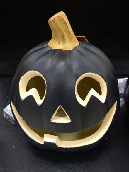 Pumpkin in Al Jolson Blackface CloseUp
