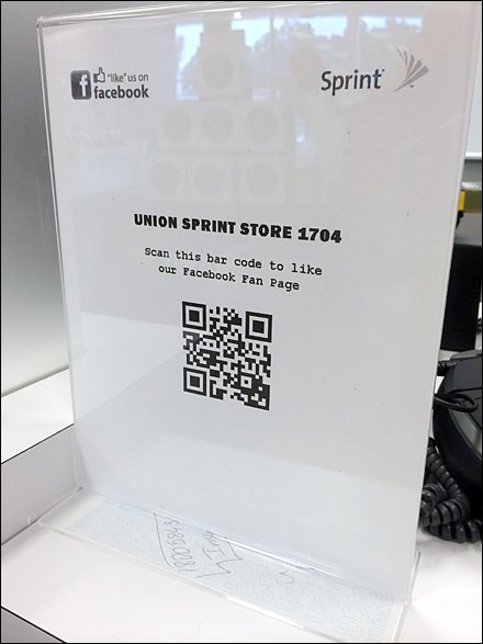 Sprint QR Code to Facebook Like