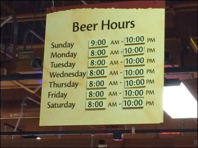 Sunday Beer Hours If You Need Them