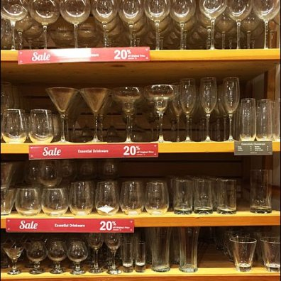 Essential Glassware Shelf Facing Label Strip