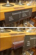 Essential Glassware Shelf Tag