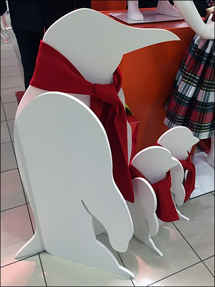 JCPenney Plywood Penguin In-Store