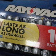 Rayovac As Good As Duracell Closeup