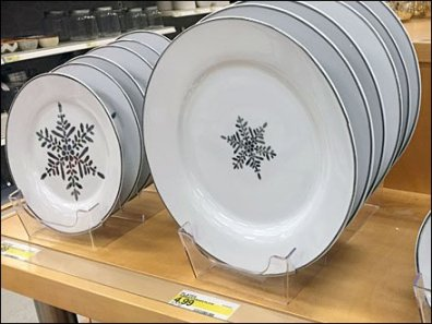 Celebration of Snowflake China Acrylic Tray