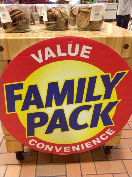 Super-Size Family Pack Label Flags Front