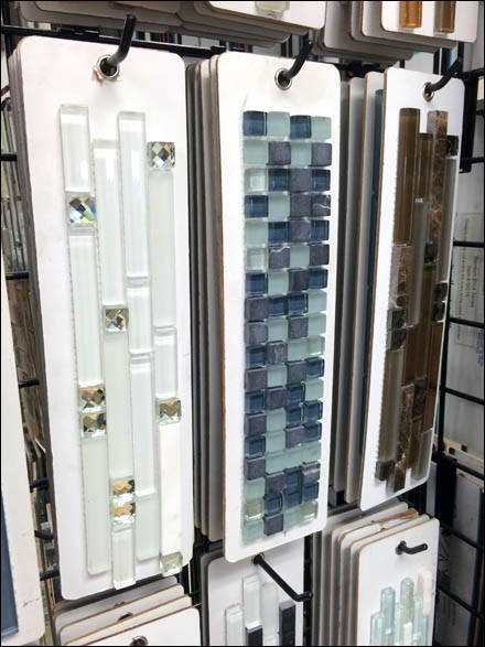 Tile Sample Grid Hooks Fixtures Close Up