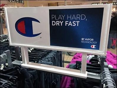 Champion Play Hard Dry Fast Branding