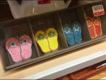 Colorful Summer Flip-Flop Tag Holders