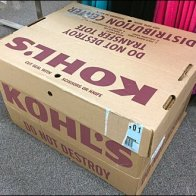 Kohls Distribution Center Cardboard Tote