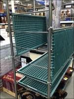 Drop-Leaf Plastic Transport Cart Shelf