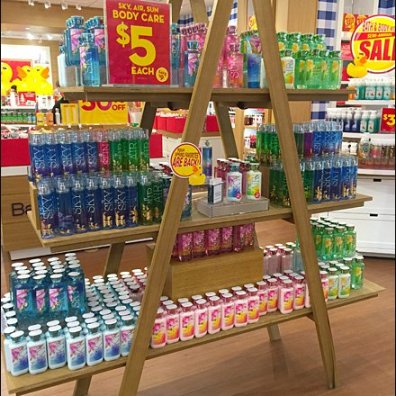 Bath & Body Works Laddered In-Store Display