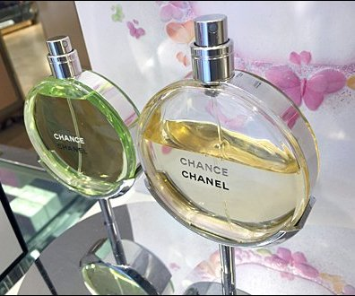 Chanel Fragrance Cradle on a Pedestal