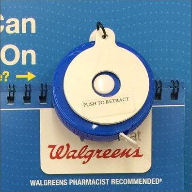Walgreens In-Store Measuring Tape Size Assist