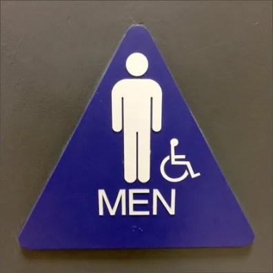 Mensroom Handicap Footnote Main