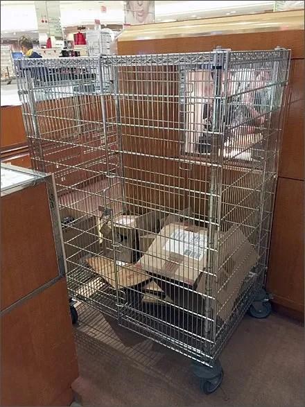 Metro Security Cart at Macys