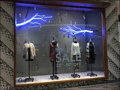 Neon Lightning Strikes Retail