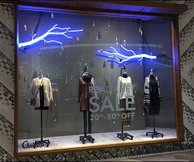 Neon Lightning Strikes Retail