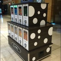 Polka Dot Gunball Machines at Mall