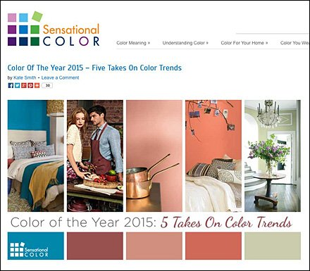 Sensational Color - Color Of The Year 2015 Main