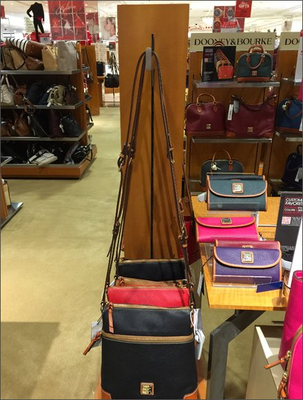 Vertical Slot Faceout Purse Display