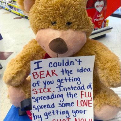 Flu Bear Display Message