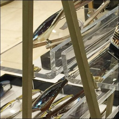 Henri Bendel Laddered Sunglasses Shelf Detail
