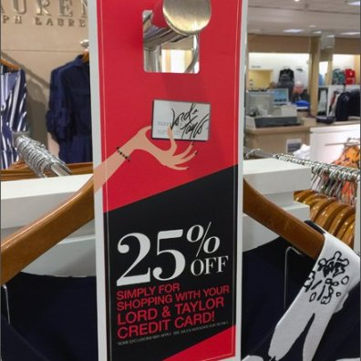 Lord & Taylor 25% Door Hanger Main