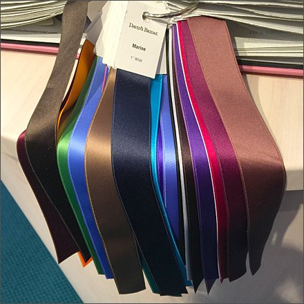 Ribbon Color Swatches Closeup