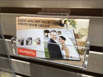 Shutterfly Slatwall Business Card Holder 1