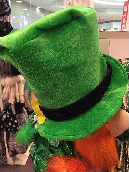 St. Patrick's Day Store Fixtures and Merchandising