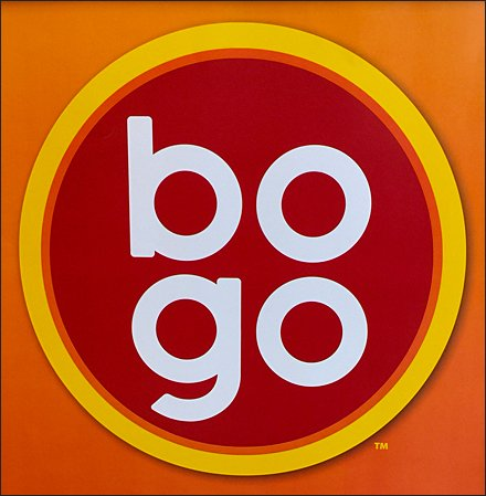 BOGO Buy One Get One Store Fixtures - Trademarked