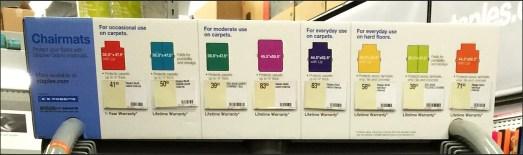 Chairmat Color Codes