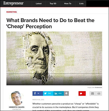 Entrpreneur Avoiding Cheap Brand Perception