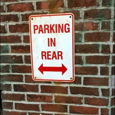 Parking In Rear THis Way or That